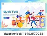 web landing page design...   Shutterstock .eps vector #1463570288