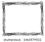 sketch  scribble rectangular... | Shutterstock .eps vector #1463579522
