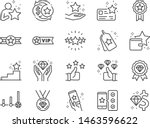 royalty program line icon set.... | Shutterstock .eps vector #1463596622
