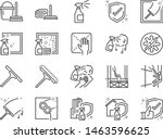 window cleaning line icon set.... | Shutterstock .eps vector #1463596625