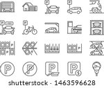 parking line icon set. included ... | Shutterstock .eps vector #1463596628