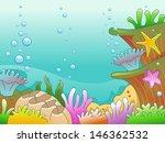illustration of underwater scene   Shutterstock .eps vector #146362532