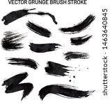 vector grunge set brush strokes ... | Shutterstock .eps vector #1463640845