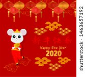 chinese zodiac sign year of rat ...   Shutterstock .eps vector #1463657192