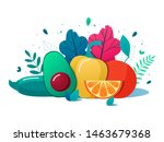 concept of healthy eating ...   Shutterstock .eps vector #1463679368