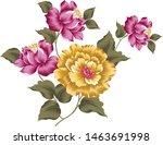 elegant flowers bouquet on... | Shutterstock .eps vector #1463691998