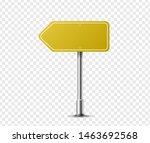 Realistic Arrow Traffic Sign On ...