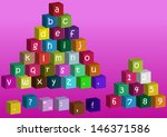 set of colorful vector playing... | Shutterstock .eps vector #146371586