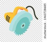 electric circular saw icon....