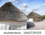 Ancient Huts With Straw Roof I...