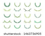 set of different green... | Shutterstock .eps vector #1463736905