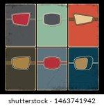 mid century modern banner ...   Shutterstock .eps vector #1463741942