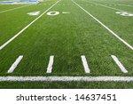 a new astro turf foot ball field | Shutterstock . vector #14637451