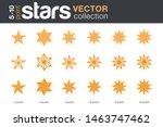 stars shapes silhouettes vector ... | Shutterstock .eps vector #1463747462