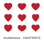 red heart icon isolated on...