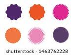 set of vector starburst ... | Shutterstock .eps vector #1463762228