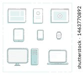 electronic devices  desktop... | Shutterstock .eps vector #1463770892