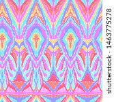 Bright Abstract Colorful Ikat...