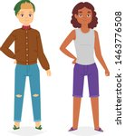 man look fashion character... | Shutterstock .eps vector #1463776508