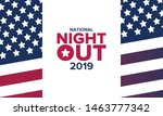 national night out. community... | Shutterstock .eps vector #1463777342