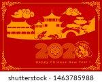 vector luxury festive cards for ... | Shutterstock .eps vector #1463785988