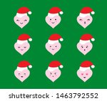 set of heart shaped emoji with... | Shutterstock .eps vector #1463792552