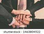 image of businesspeople hands... | Shutterstock . vector #1463804522