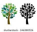 Vector tree; isolated on white