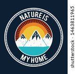 mountain illustration  outdoor... | Shutterstock .eps vector #1463811965