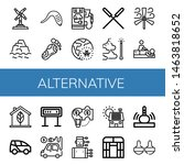 set of alternative icons such... | Shutterstock .eps vector #1463818652