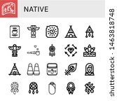 Set Of Native Icons Such As...