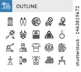 set of outline icons such as... | Shutterstock .eps vector #1463819672