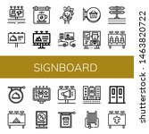 set of signboard icons such as... | Shutterstock .eps vector #1463820722
