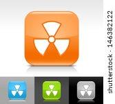 radiation icon set. blue ...