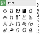 set of rope icons such as crane ... | Shutterstock .eps vector #1463821835