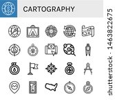 set of cartography icons such... | Shutterstock .eps vector #1463822675