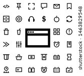 browser icon. universal set of...
