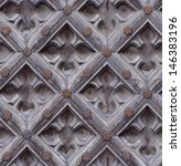 seamless weathered carving wood ... | Shutterstock . vector #146383196