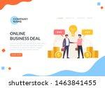 business deal agreement web...   Shutterstock .eps vector #1463841455