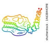 rainbow gradient line drawing... | Shutterstock . vector #1463844398