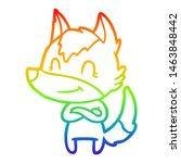 rainbow gradient line drawing... | Shutterstock . vector #1463848442