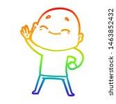 rainbow gradient line drawing... | Shutterstock . vector #1463852432