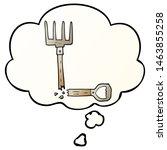 cartoon broken pitchfork with... | Shutterstock . vector #1463855258