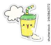 cute cartoon soda with speech... | Shutterstock . vector #1463862572