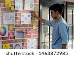 young asian creative man... | Shutterstock . vector #1463872985