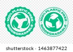 biodegradable plastic free icon ... | Shutterstock .eps vector #1463877422