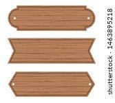 cartoon wood banners wooden... | Shutterstock .eps vector #1463895218