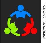 vector team strong 3. group of... | Shutterstock .eps vector #146390192