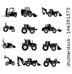 vector collection tractor and... | Shutterstock .eps vector #146391575