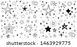 set of hand drawn stars. doodle ...   Shutterstock .eps vector #1463929775
